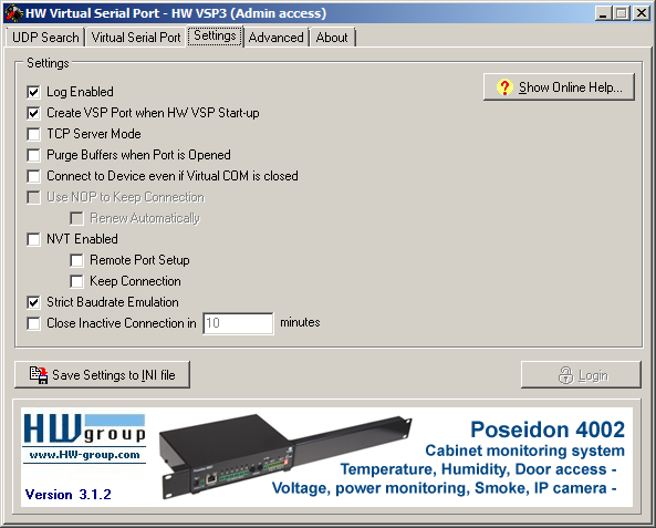 HW Virtual Serial Port Client