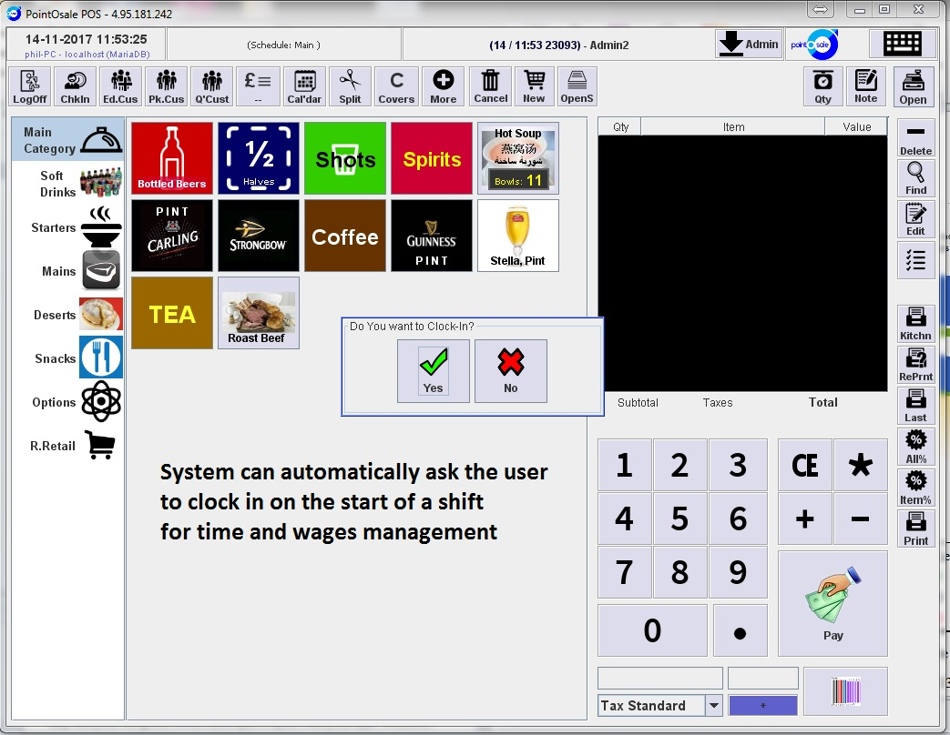 Epos pos software for Fast food & delivery chicken fish pizza sh