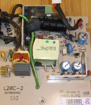 "Viewsonic 20"" LCD Monitor part POWER PSU board L20C-02"