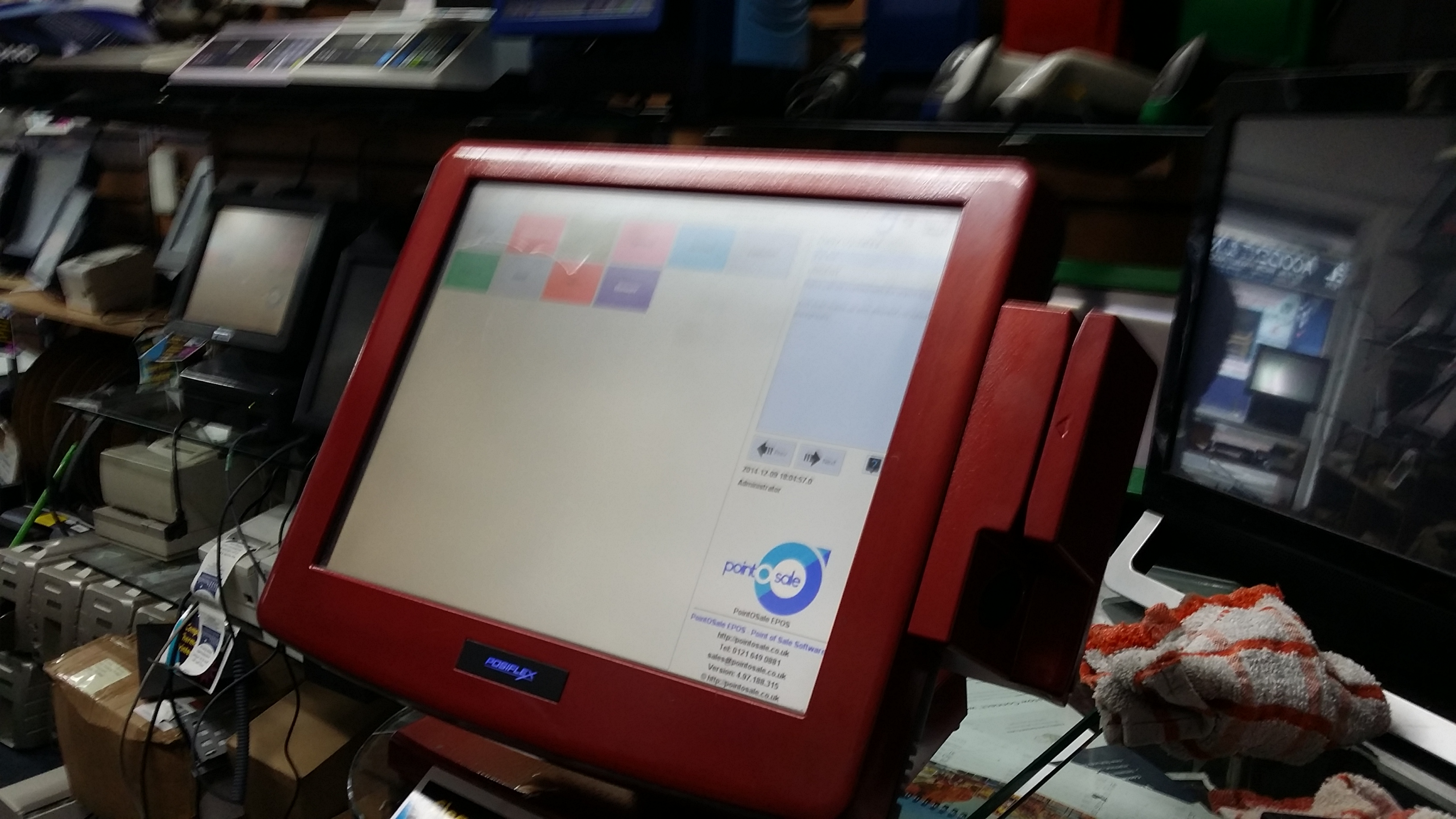 fully refinished fast dual thread epos with software and drawer