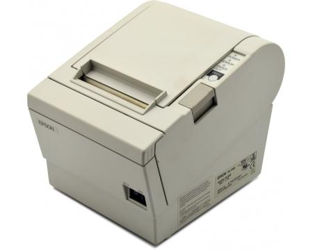 special price tm-t88ii or III white thermal printer with ac adapter serial or parallell please specify