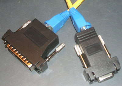 Serial Printer db9 to db25 OVER RJ45 extensions Adapters for Serial Receipt Printers cream kitchen receipt printer extenders kit of 2 over cat5/6 any length just add your cat5 cable custom made for all serial epos or kitchen printers