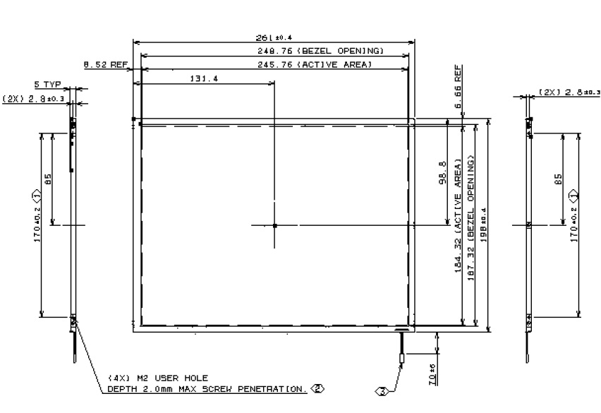 IAXG01, 12.1 XGA Color TFT/LCD, This specification applies to th