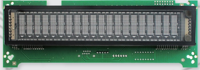 USB Vacuum Fluorescent customer Display Module display size 157.