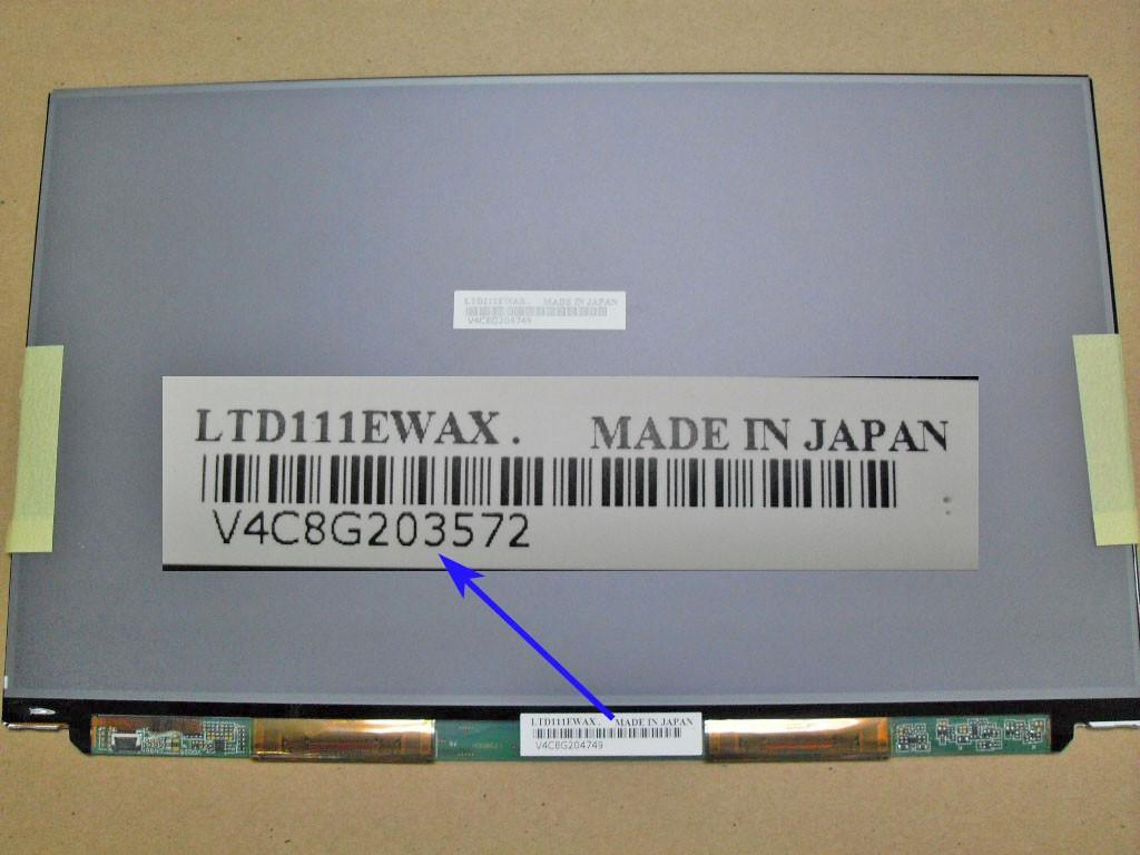 11.1� LED Screen WXGA HD LTD111EXCK or equiv for SONY