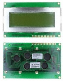 MDLS-20464-SS-LV-G-LED-04-G, LCD DISPLAY MODULE 20X4 STND W/BACK