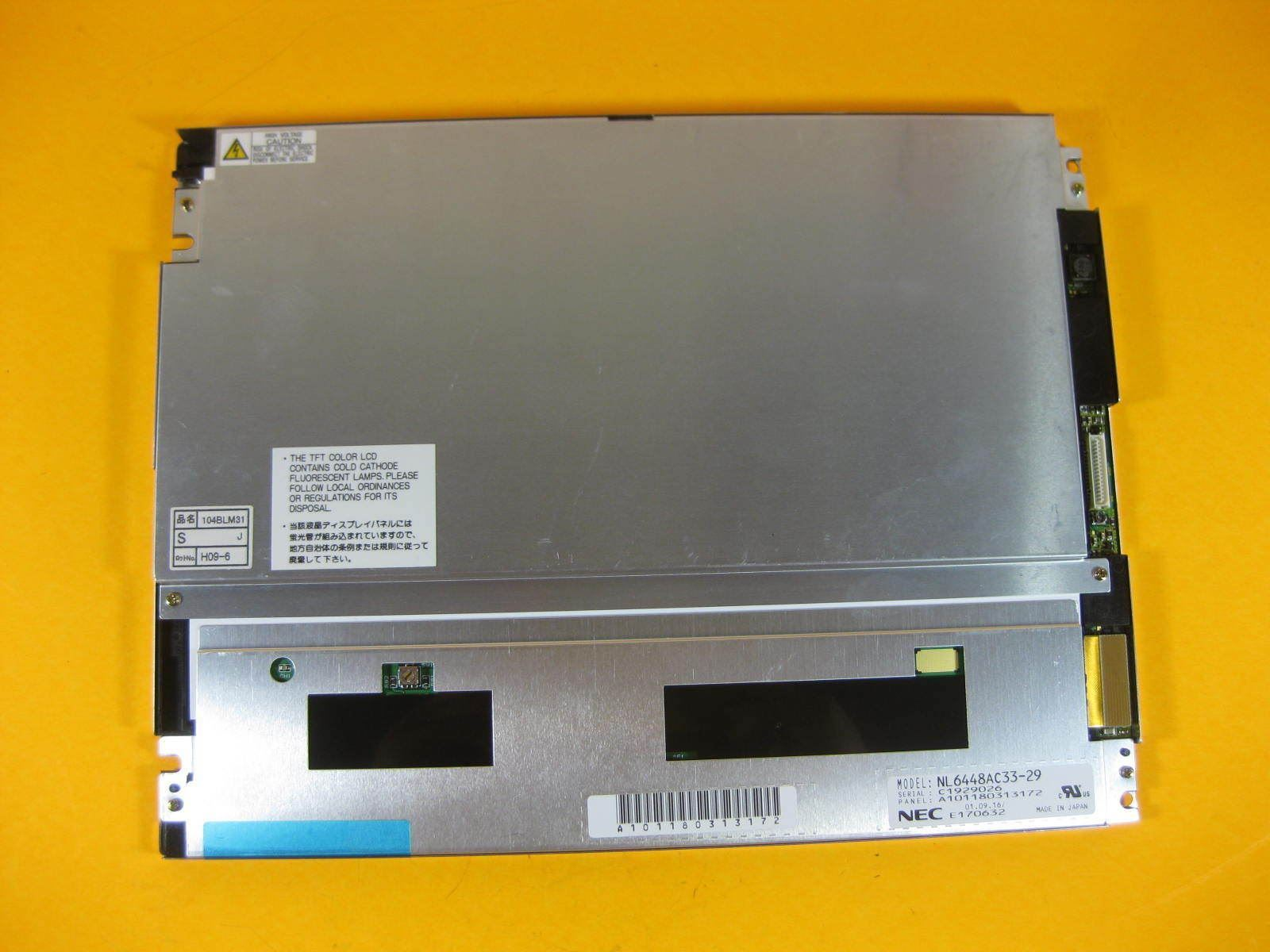 "NL6448AC33-29 10.4"" a-Si TFT-LCDPanel for NEC NL6448AC3329 640(R"